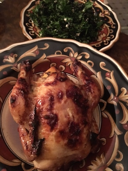 Cornish Game Hen with Fig Thyme Glaze