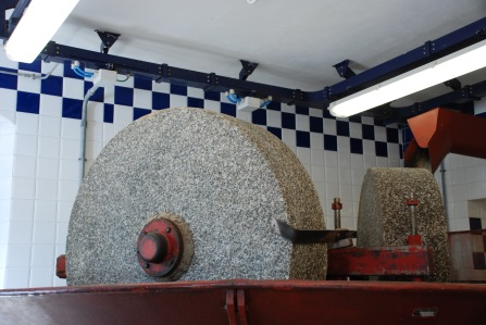 Grinding stone for olive oil production