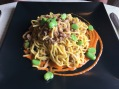 Pici with boar rago and fava beans