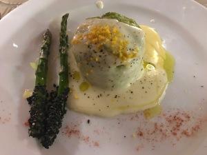 Asparagus Flan, Osteria La Porta, Monticchiello