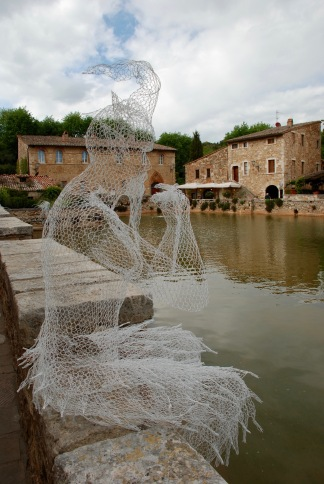 Sculpture at Bagno Vignoni
