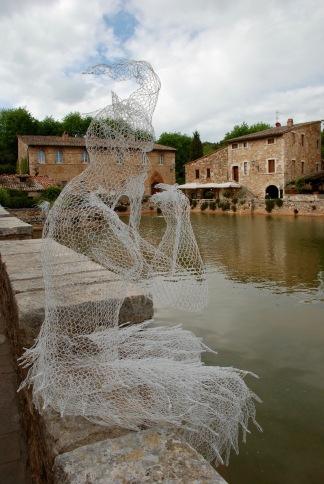 Sculpture at Bagno Vignoni