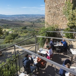 Terrace at Osteria La Porta, Monticchiello